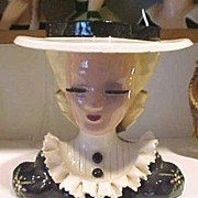 SALE Head Vase Betty Lou Nichols Mary Lou Puffy Sleeves