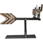 Antique Black Americana Whirligig Battle Royal Theme