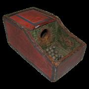 Antique Folk Painted Fraternal Ballot Box