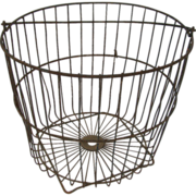 Antique Wire Basket Oysters or Clams with Feet