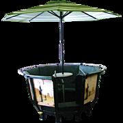 Vintage Rocky Springs Amusement Park Cuddle Up Ride Picnic Bar Table