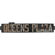 Antique Subway Train Queens Plaza New York Metal Destination Sign