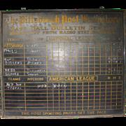 SOLD Vintage Baseball Pittsburgh Tin Scoreboard