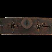 Antique Folk Art Sports Score Board Score Keeper