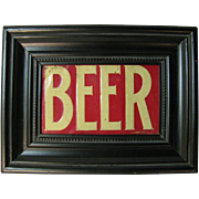 Vintage Pressed Tin Beer Sign