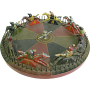 Antique Carnival Game Wheel of Chance Folk Art Horse Race
