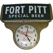 Vintage Fort Pitt Beer Clock Works
