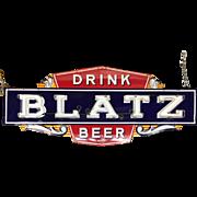 Vintage Blatz Beer Enameled Neon Advertising Sign
