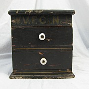 Antique & Rare Fire Company Ballot Box in Paint