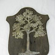 Antique Original American Fire Mark Green Tree Mutual Assurance Co. Philadelphia PA Cast Iron