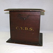Vintage Ballot Box Marked C.Y.B.S. Wonderful Piece.