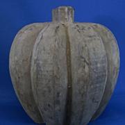 Vintage Pumpkin Folk Art Carved Pumpkin Mold