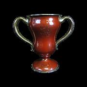 Antique Enameled Trophy Presentation Sterling Silver Cup 1903