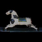 Antique Folk Art Wooden Carousel Horse