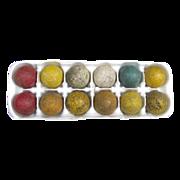 Vintage Dozen Interesting Golf Balls Painted