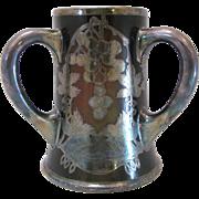 Antique Historic Silver Overlay Golf Trophy Lenox Ceramic Art Company Tyg