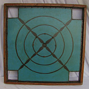 Vintage Painted Two Sided Crokinole Game Board