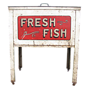 Vintage Fresh Fish Country Store Market Sales Case