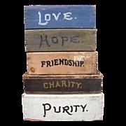 Antique Fraternal Painted Wooden Inspirational Platforms Fantastic Folk Art