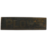 Antique Wooden Painted Trade Signs PLOWS