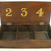 Antique Fraternal or Gambling Wooden Box