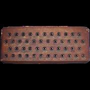 Antique Wooden Billiard Two Game Board