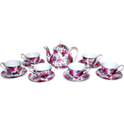 Vintage Chintz Porcelain Tea Set with Gift Boxes Olympia England