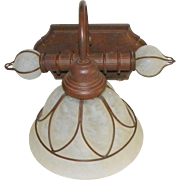 Wall Sconce Light Fixture Wired Glass Shades Estate