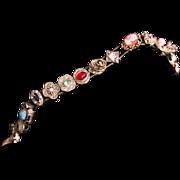Goldette Slide Bracelet-Unsigned But Unmistakable-15 Sweet Charms