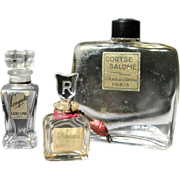 Perfume Bottle Trio-Vintage French Scents-Tres Charmant