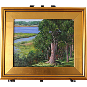 Afternoon-Buzzards Bay, MA-Framed 11 X 14 Original Oil Painting by L. Warner