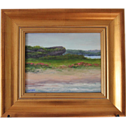 SALE Seascape-Hanging Rock-Rhode Island Landmark-8 X 10 Framed-Original Oil Painting by ...