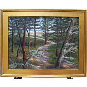 Path thru the Pines-Framed 18 X 24 Oil Painting by Artist L. Warner-Cape ...