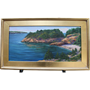 Early AM-Newport, RI-Framed 12 X 24 Oil Painting-Impressionistic Seascape by L. Warner