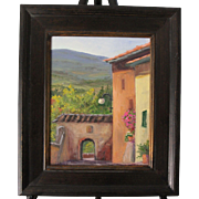 Tuscany Landscape-Framed 11 X 14 Oil Painting by L. Warner