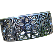Brighton Bracelet-Hinged Bangle-Butterfly Motif & Crystals-A Beauty!