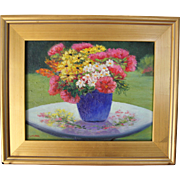 Gifts from the Garden-Framed 11 X 14 Oil Painting by Artist L. Warner-Fresh ...