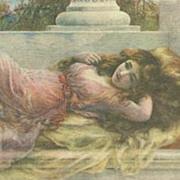 SALE English Art Nouveau  Artist Postcard 'Midsummer Reverie'.
