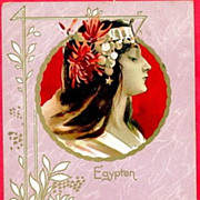 SALE Antique Art Nouveau 'Egypten'  French Postcard c1900