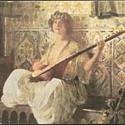 Art Deco German Artist Persian Harem Postcard c1918