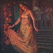 SALE Vintage Polish Signed 'Salome Dances' Postcard