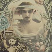 Reutlinger Real Photo Montage 'Les Joujou' French Postcard 1904