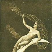 SALE PAIR of Real Photo Slovenian Art Nouveau 'Heavenly Bodies' Postcards..Rare.