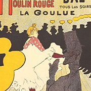 SALE Toulouse-Lautrec 'Moulin Rouge La Goulue' Stone Lithograph in 7 Plates.