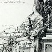 SALE Original Signed French Etching Joan of Arc  'Saint-Brieuc' c1890