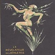 SALE Rare Art Deco Advertising Postcard 'L'Embrocation Chanteclair' c1920