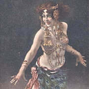 SALE Bohemian Artist 'Salome' Postcard