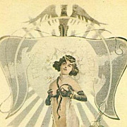 Twentieth Century re-issue  of 19th Century Risque French  Postcard