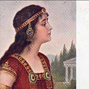 SALE Beautiful Russian Orientalist 'Esther' Artist Postcard 1915.