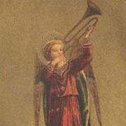 'Angel with Trumpet' Fra Angelico Italian Postcard.